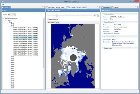 Screenshot Sea Ice Viewer