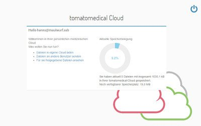 Tomatomedical Cloud Start Page